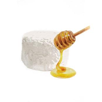 Fromage frais miel
