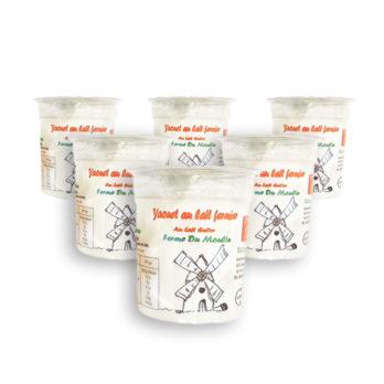 Pack 6 yaourts au lait entier – NATURE